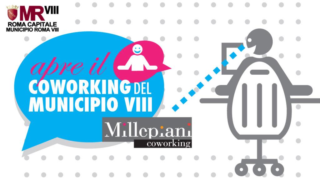 Apre a Millepiani il coworking del Municipio VIII